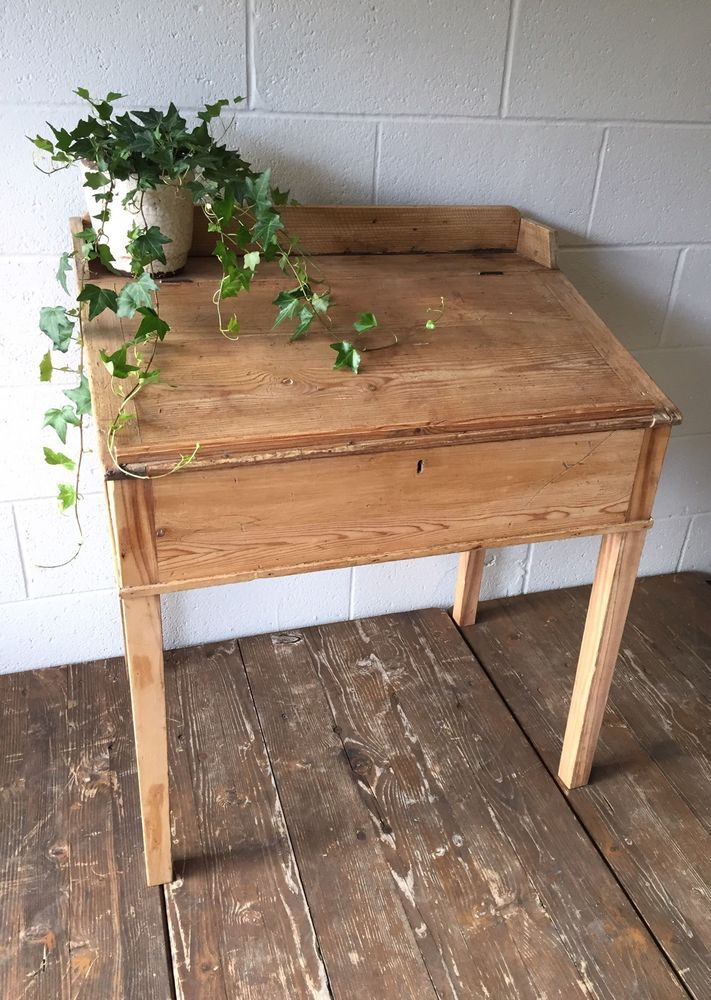 Vintage Antique Pine Clerk's Desk, Hall, Restaurant, Shop Fitting  | eBay