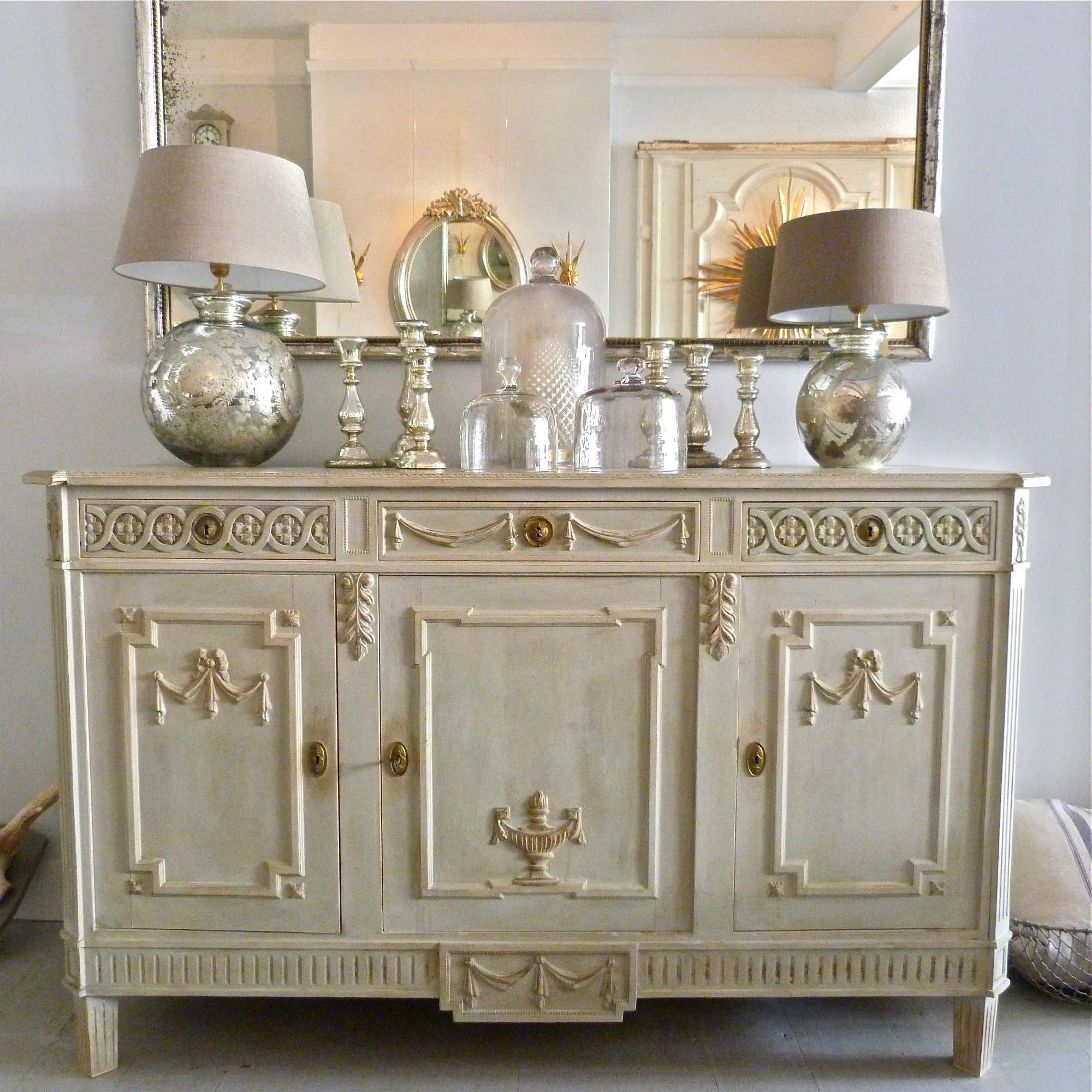 late 19th century swedish gustavian style sideboard - Gustavian Style Furniture