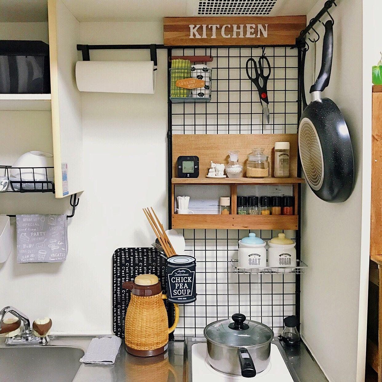 キッチン 賃貸diy ブログ 狭くても使いやすい キッチン改造 などのインテリア実例 2017 11 26 22 46 44 Roomclip ルームクリップ キッチン Diy 狭い家のキッチン 狭いキッチン 収納