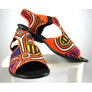 41f8eef47e3 Mola sandals from Koguis. Made in Colombia by Kunas Indigenous people and  shoe artisans.