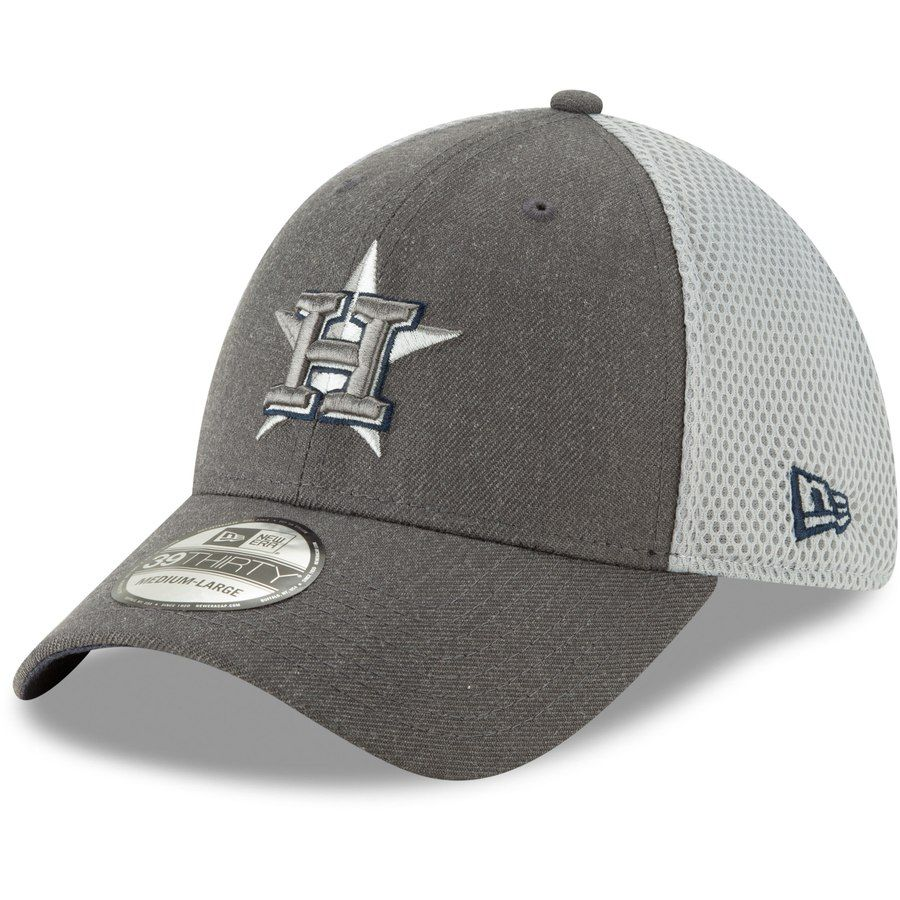 separation shoes 53a55 b9d8d Men s Houston Astros New Era Graphite Neo 39THIRTY Flex Hat,  25.99