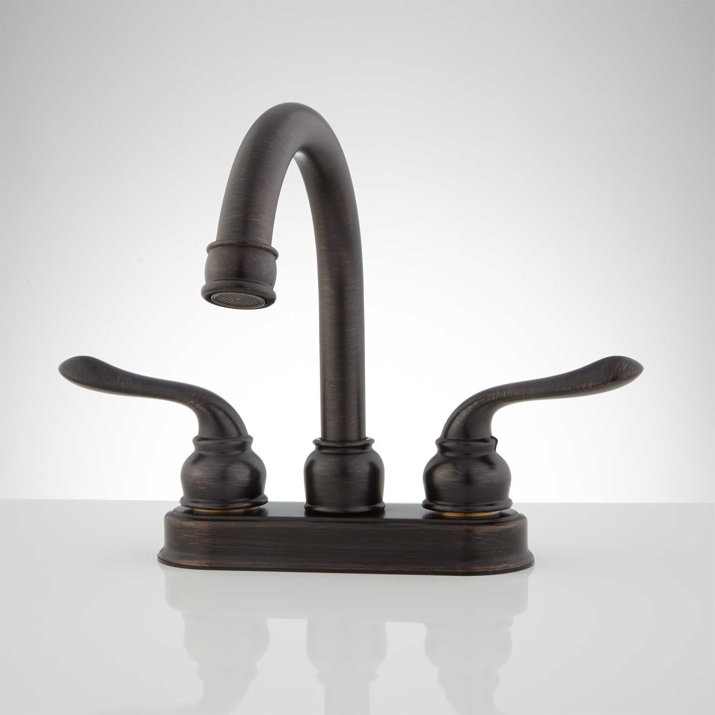 Echo Centerset Bathroom Faucet - No Overflow - Dark Antique Bronze ...