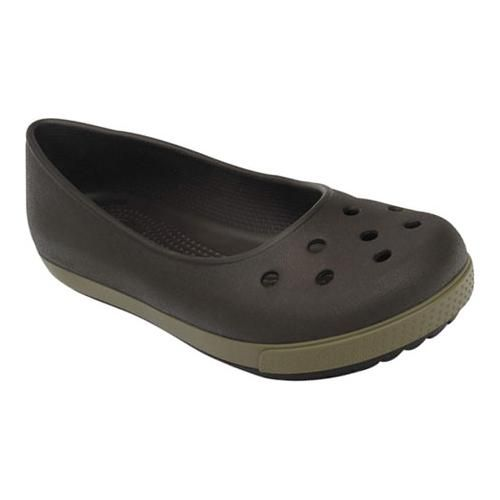 Crocs Crocband Airy Flat Casual Shoes in Espresso/Walnut for Women