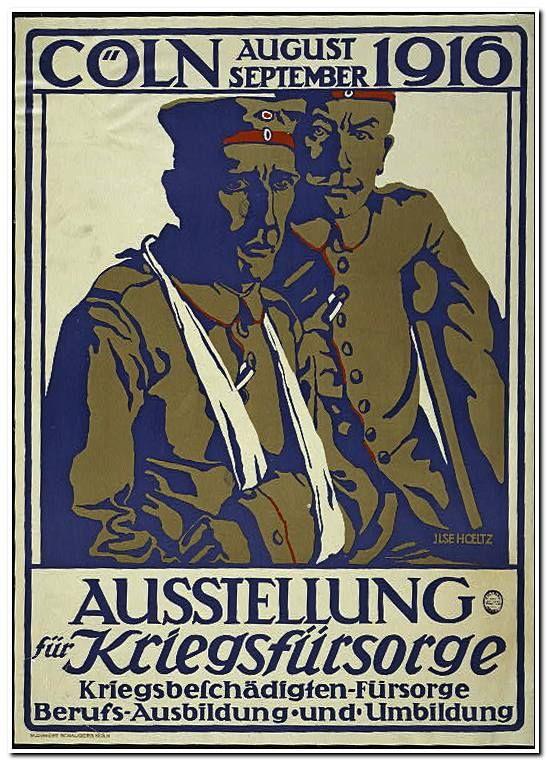 Ausstellung für Kriegsfürsorge, Cöln, August-September 1916; Kriegsbeschädigten-fürsorge, Berufs-Ausbildung und Umbildung