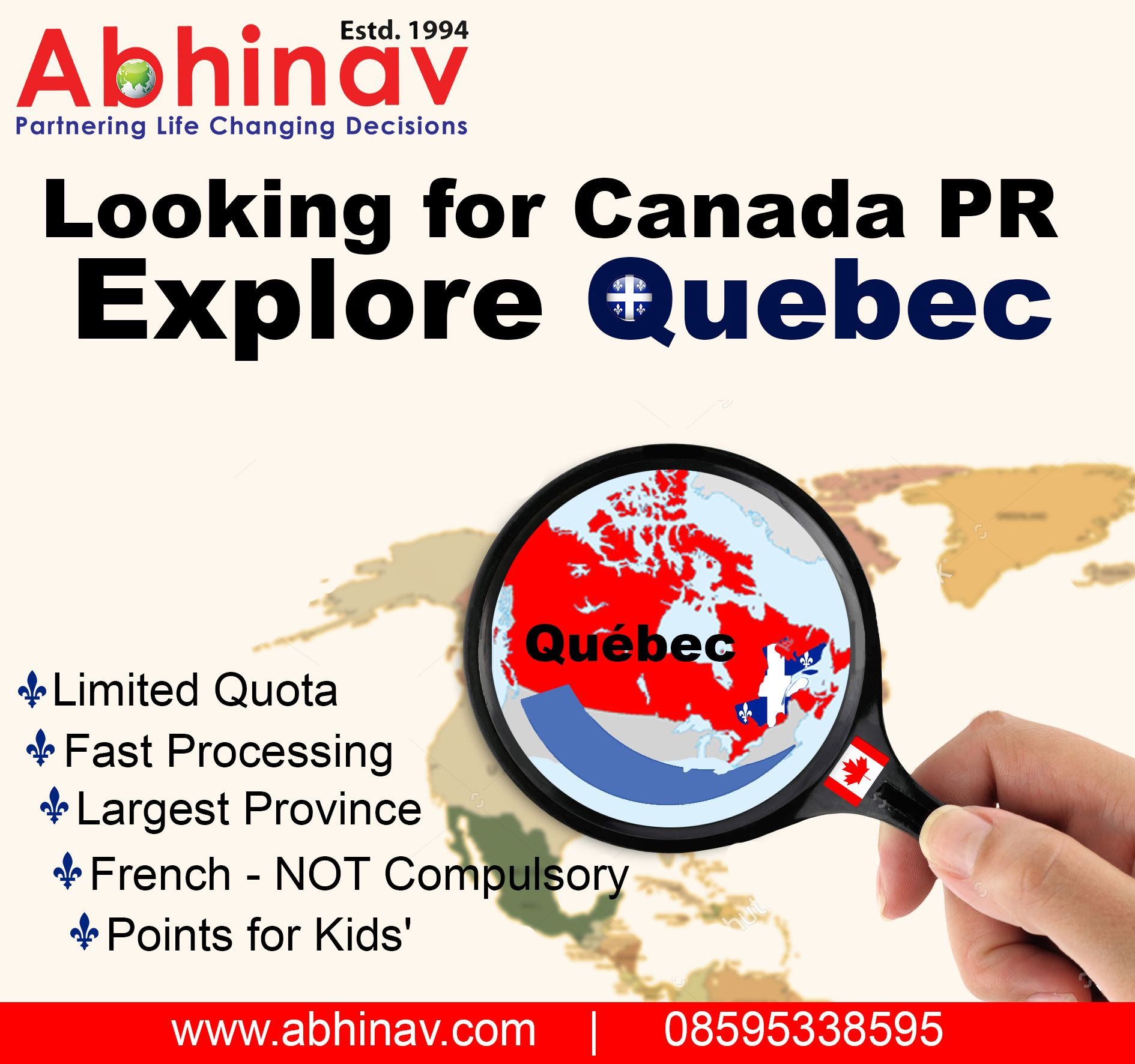 Looking for Canada PR, Explore Quebec. Free assessments