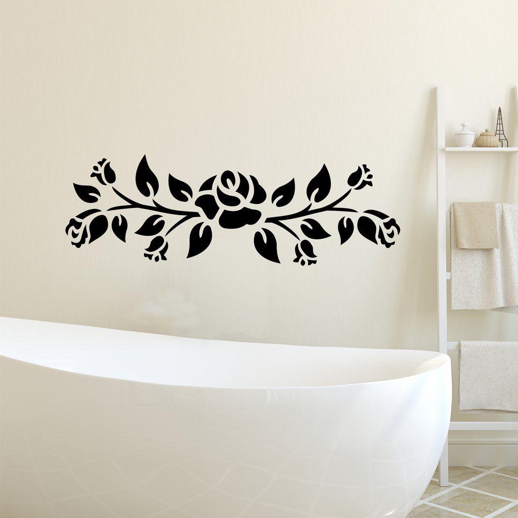 Decorative Roses Vine Swag Wall Decal Home Wedding Decor Vinyl