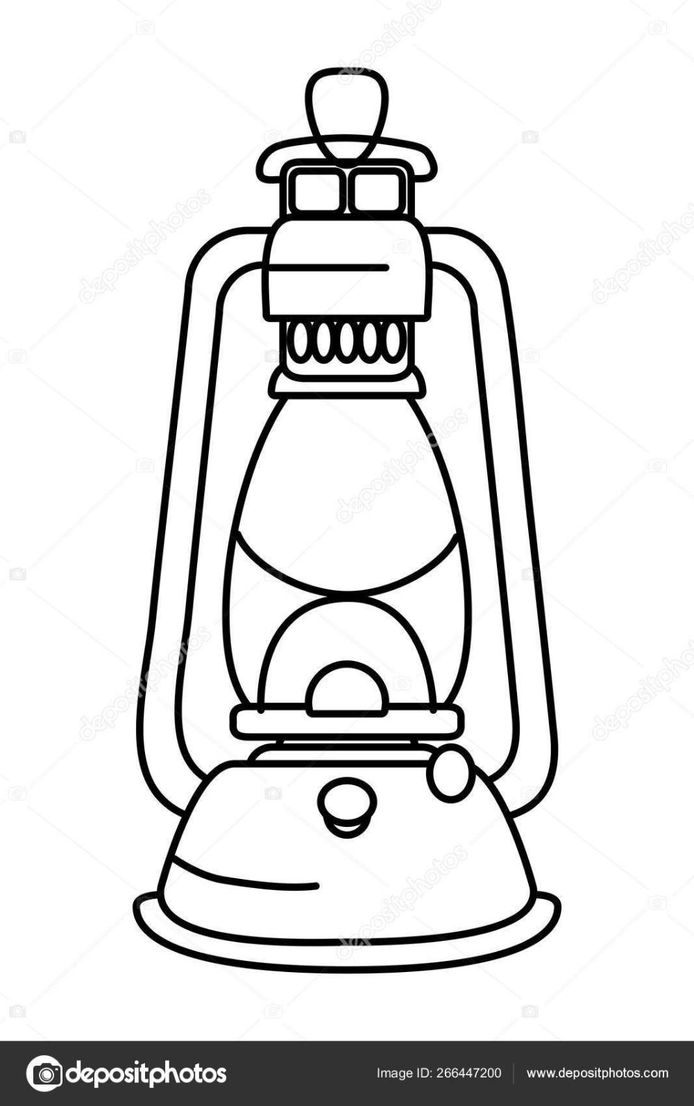 Descargar Lampara De Farol De Camping Ilustracion De Stock Frases