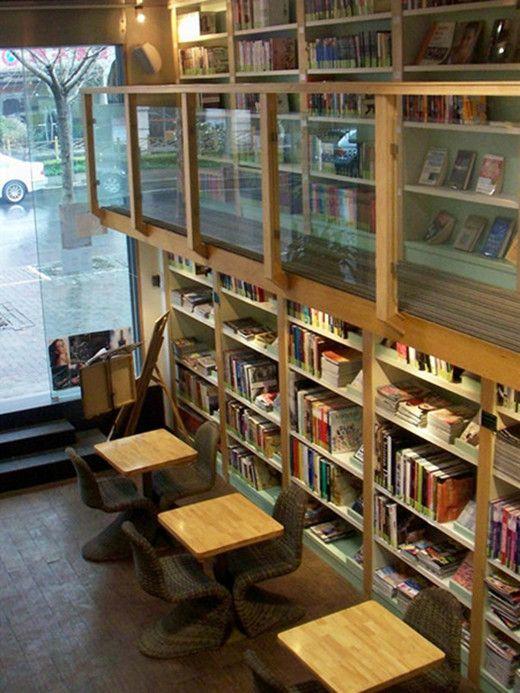 love the layout of this book cafe HOME Pinterest Librerías - libreria diseo