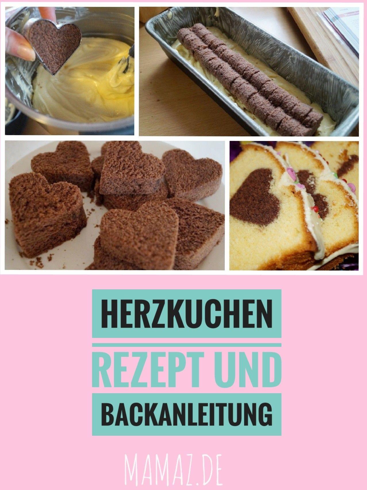 Der Kuchen mit Herz innen ist ein Hingucker Rezept und Bastel