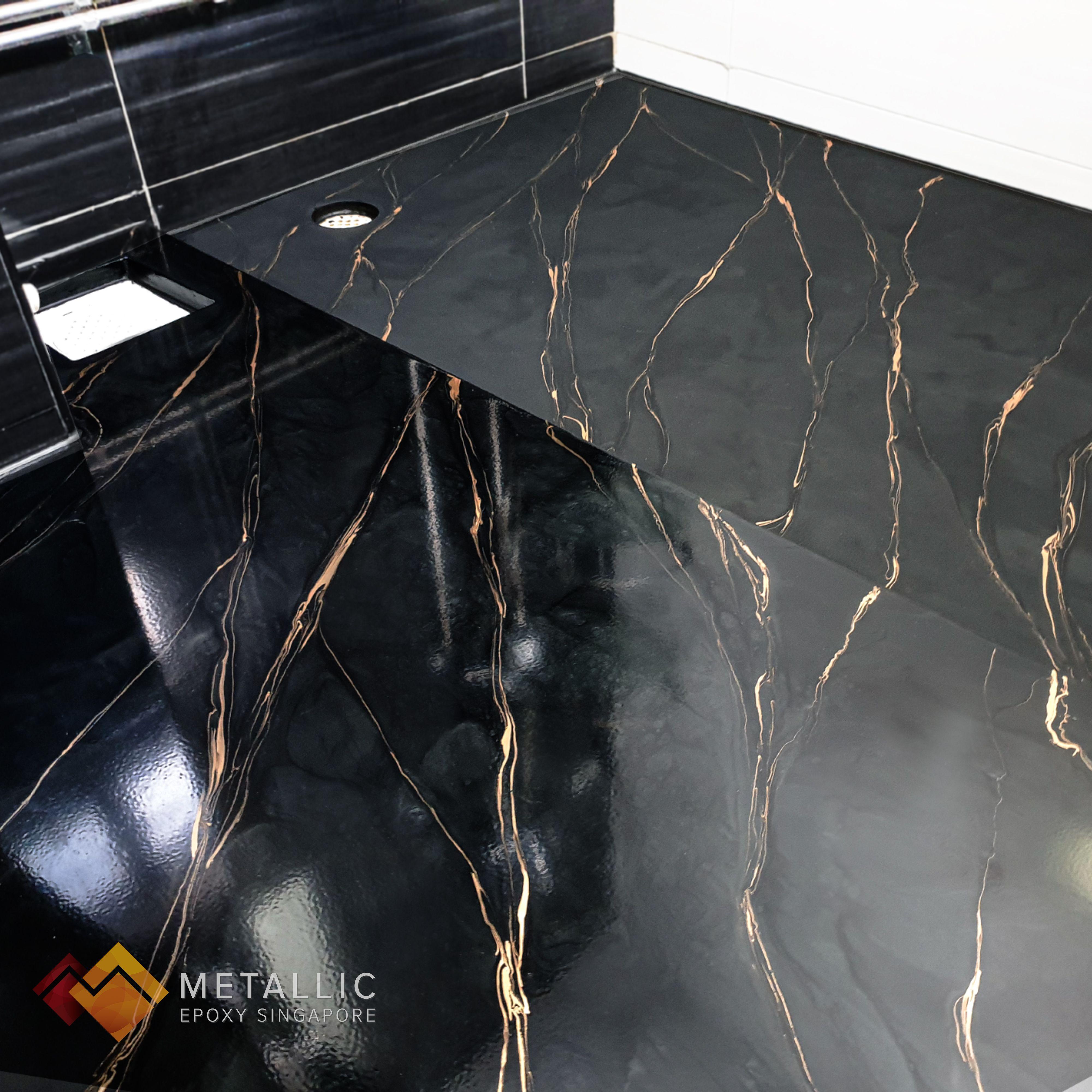 Hdb Metallic Epoxy Floor Resurfacing In 2020 Metallic Epoxy Floor Epoxy Floor Flooring