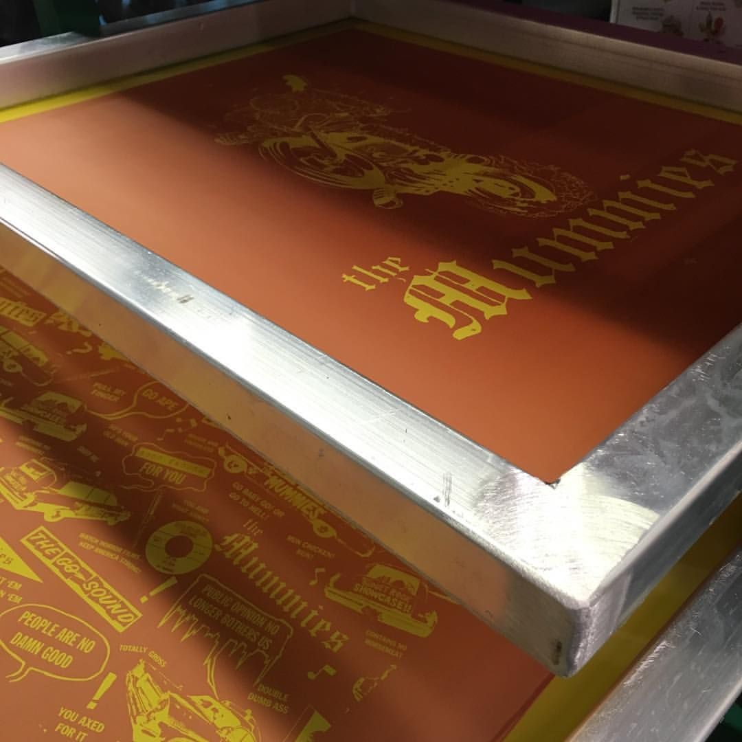 Shipping out some pretty rad screens for The Mummies today! #screenprint #screenprinting #preburnedscreens…