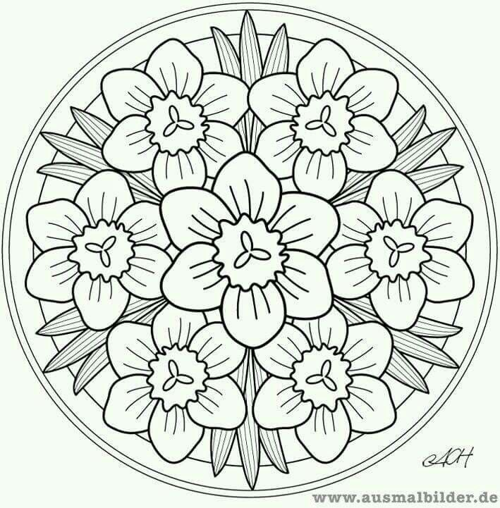 Pingl par beyhan zatan sur desenler pinterest - Coloriage mandala printemps ...