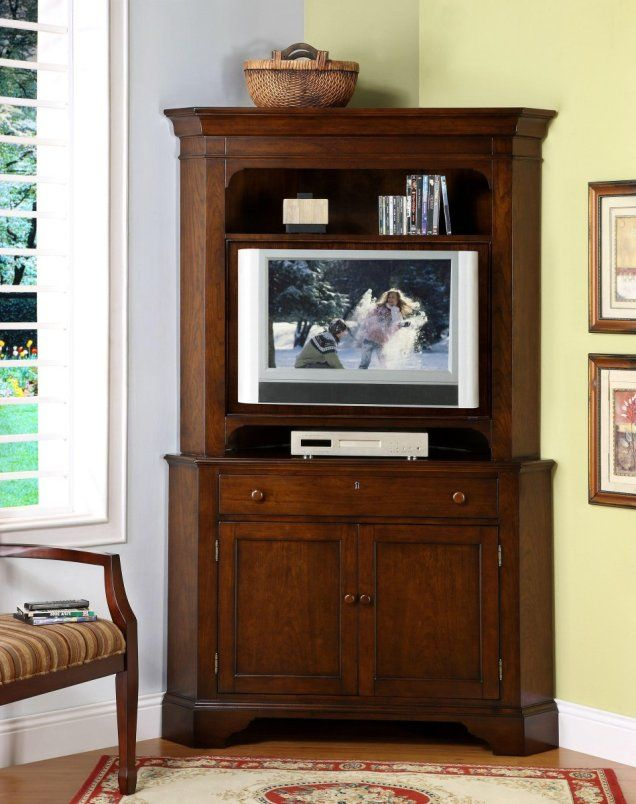 Ideas corner tv cabinet and curio cabinet Corner cabinet hutch