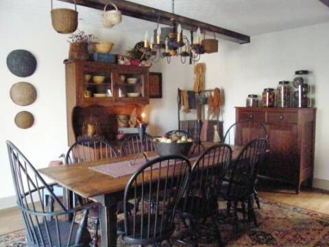 Primitive Dining Rooms · A Primitive Place ~ Primitive U0026 Colonial Inspired  Kitchens