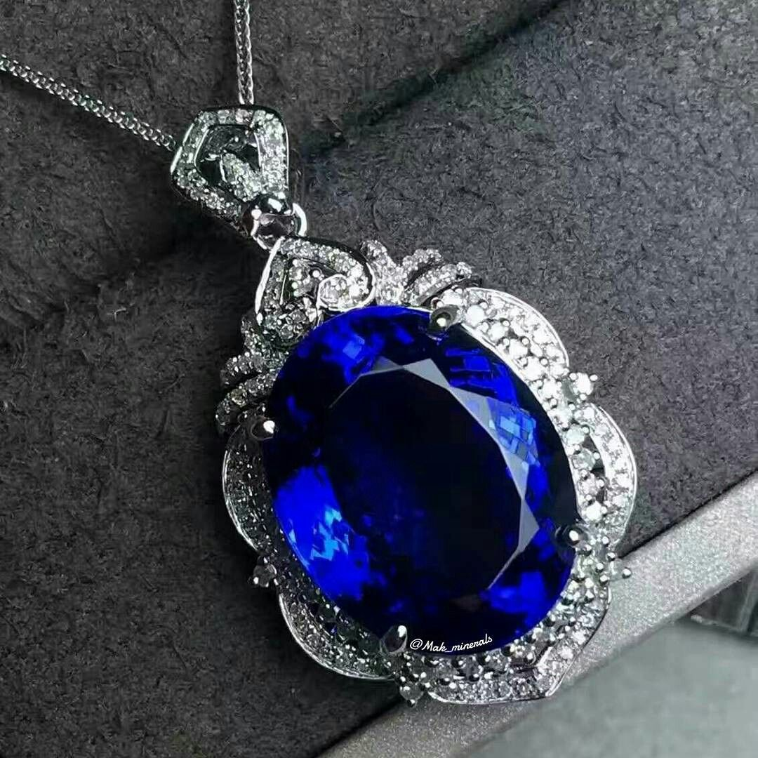 Makminerals the another tanzanite pendant in 18k white gold the another tanzanite pendant in 18k white gold natural diamonds around stone specification aloadofball Gallery
