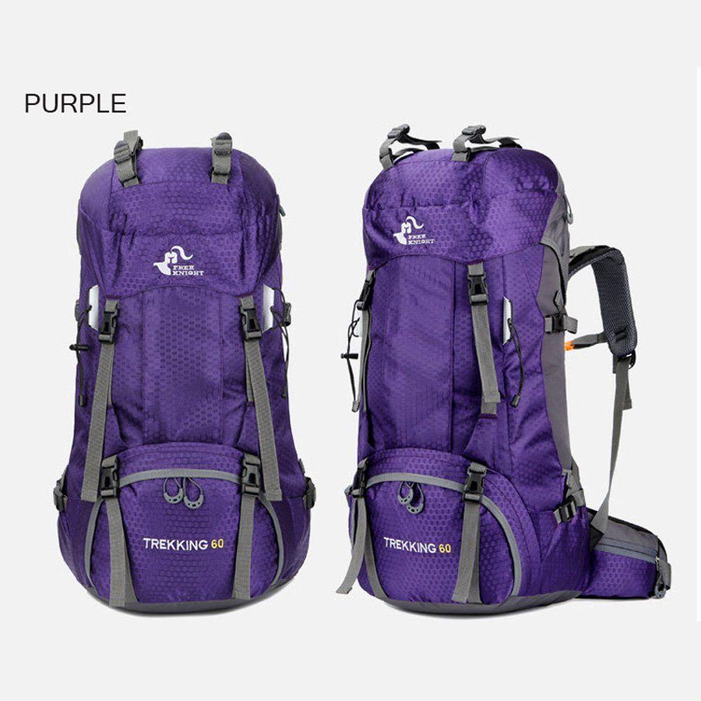 320c2576d00 Fengtu Large 60L Hiking Backpacks For Men Women Waterproof Nylon Backpack  Camp Traveling Backpacks Treking Sports Bags Daypacks Purple 60L     Visit  the ...