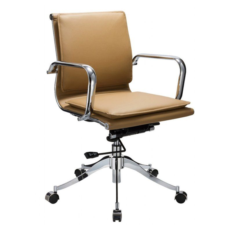 Modrest Mindie Low Back Office Chair - Camel - 71690