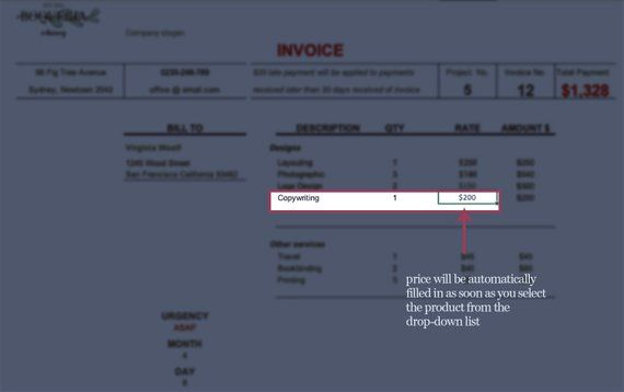 Modern Clean Excel Invoice Template Contains Premade Formulas