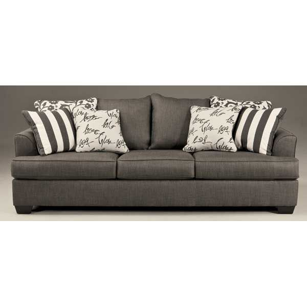 Levon charcoal sofa loveseat rs gold sofa for Furniture 123 moline