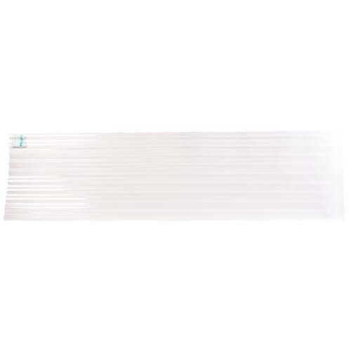Tuftex Polycarb 2 17 Ft X 12 Ft Corrugated Clear Polycarbonate Plastic Roof Panel Lowes Com In 2020 Roof Panels Fiberglass Roof Panels Fibreglass Roof