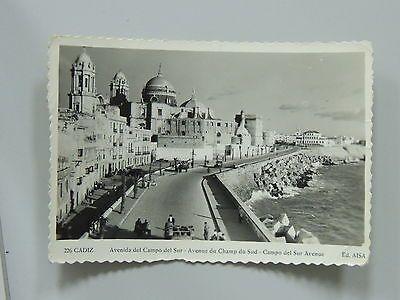 POSTAL-Nº226-CADIZ-AVENIDA DEL CAMPO DEL SUR-AÑO1957#38