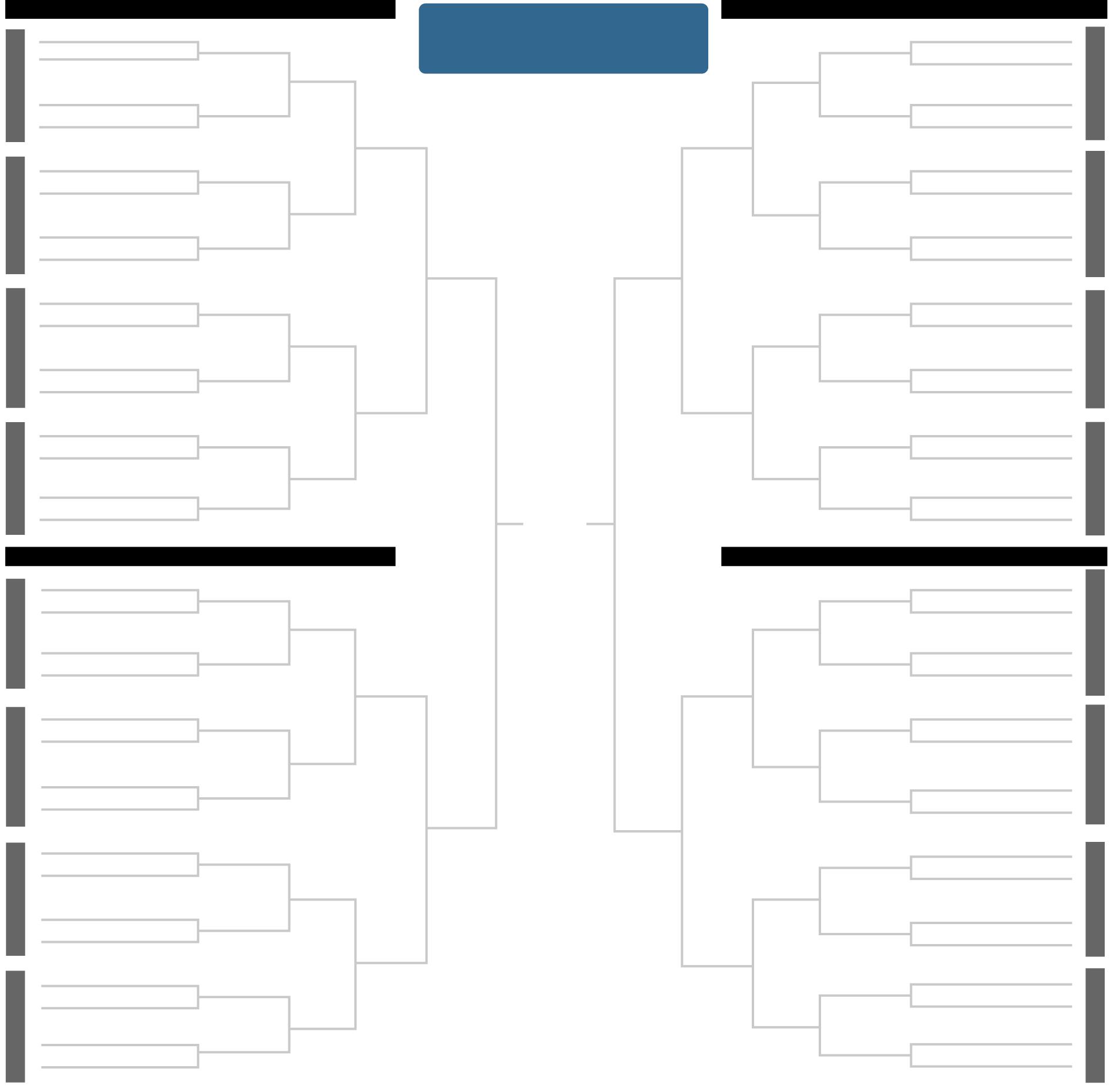 Printable 2018 N C A A Men S Tournament Bracket Ncaa Tournament Bracket Ncaa Ncaa Basketball Tournament
