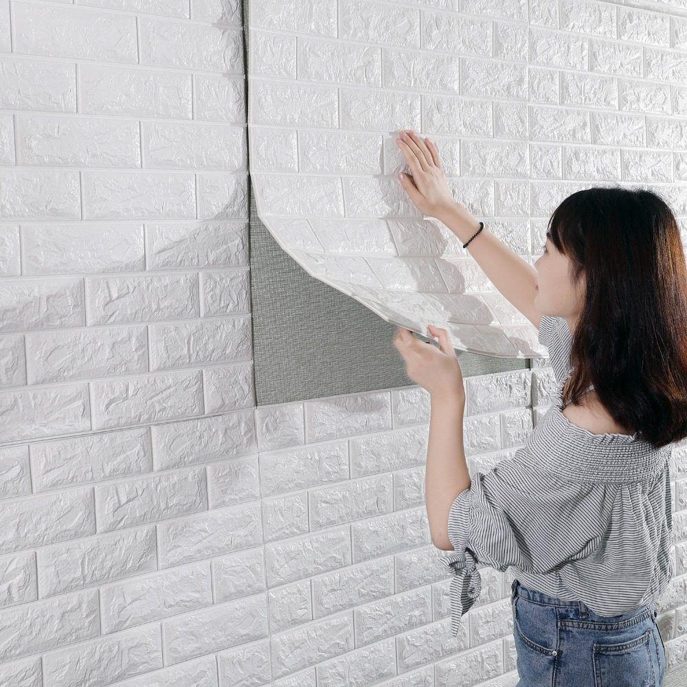 Online Shop New Diy 3d Brick Pe Foam Wallpaper Panels Room Decal