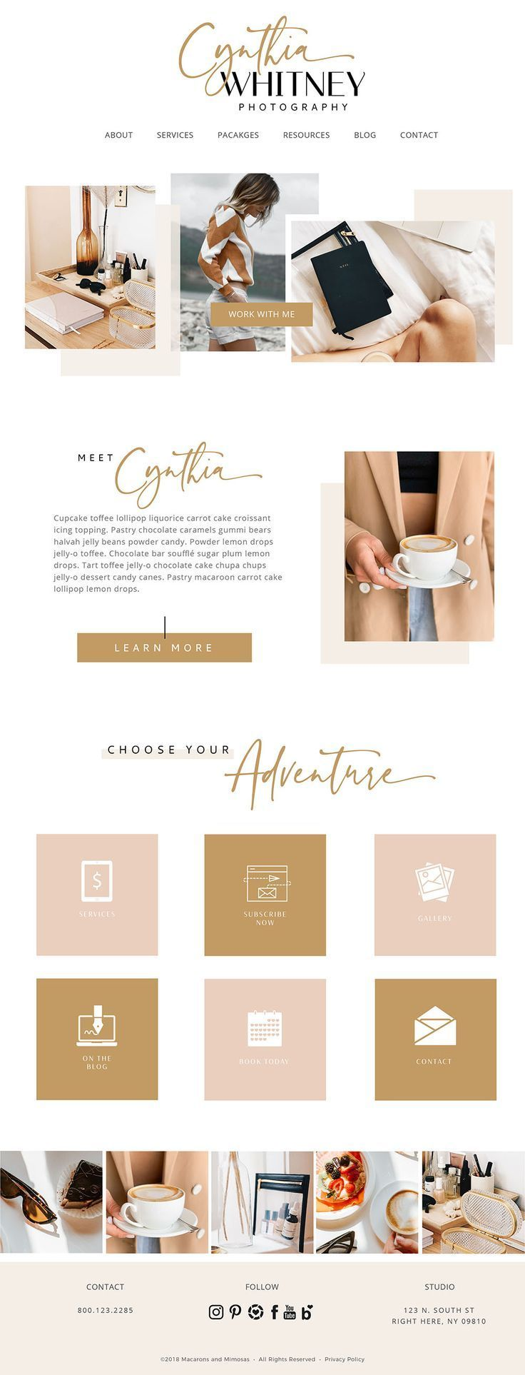 Cynthia // Websites, Blog, Social Media Bundle • WordPress Responsive - web design