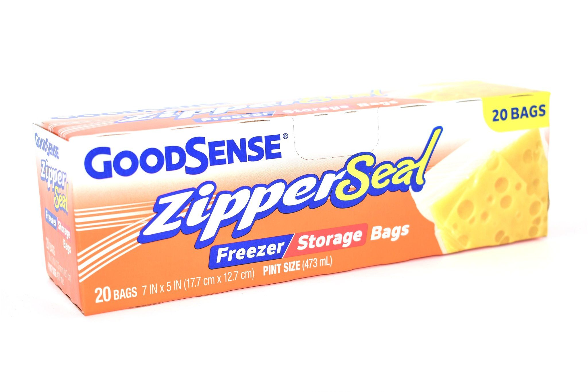 Goodsense Zipper Seal Pint Size Freezer Storage Bags 20