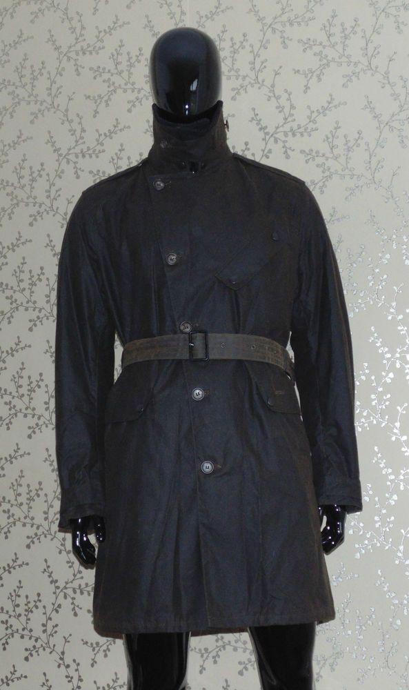 Barbour Despatch Rider Coat Wax Motorcycle Jacket Souter