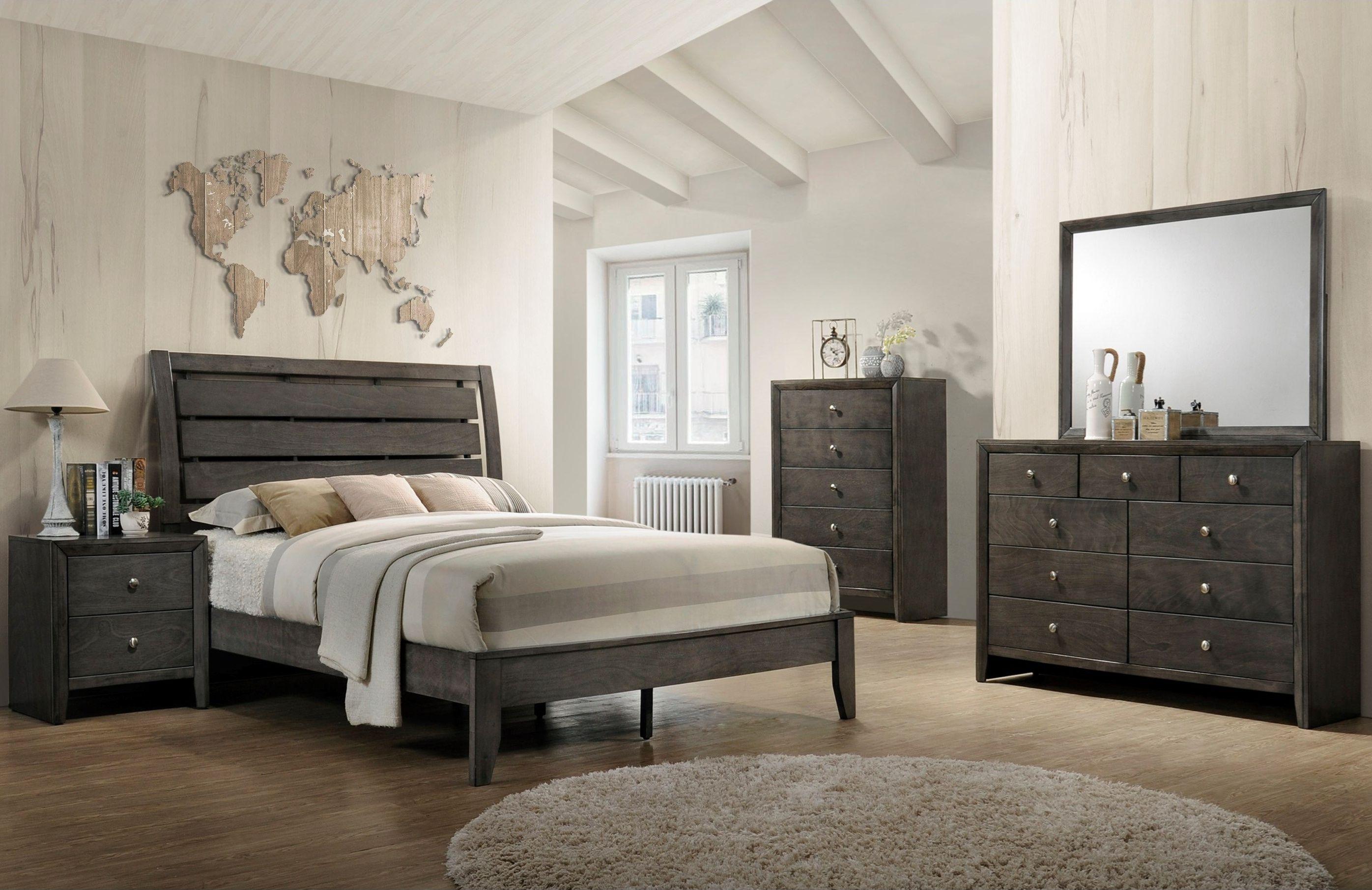Best Evan Grey 5 Piece Bedroom 1029 Dresser Mirror Chest 400 x 300