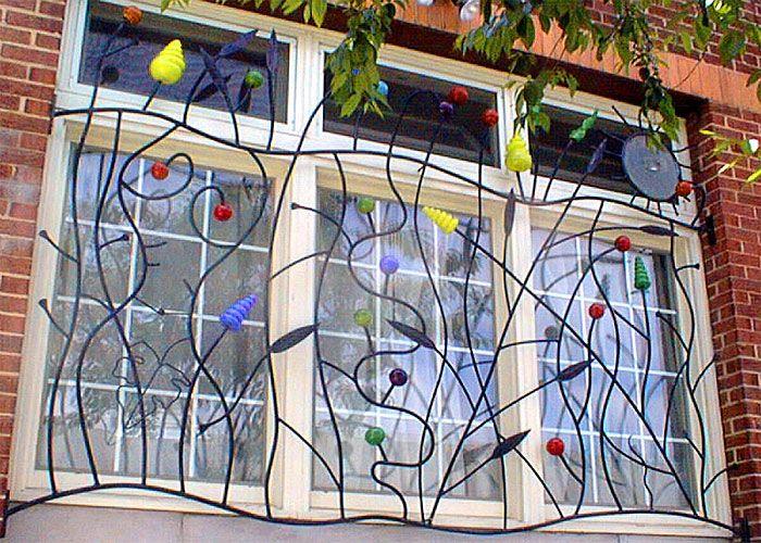 Pretty Window Bars! Security Plus Decoration. I Like.