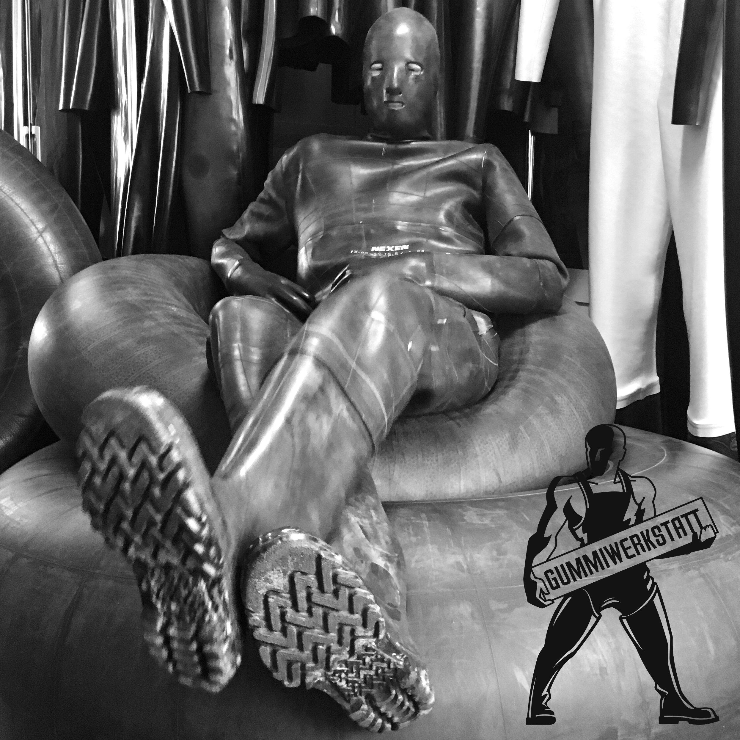 Inner Tube Rubber Suit Schutzanzug Leder Anzug