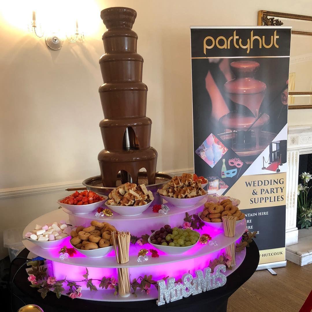 Party Hut #chocolatefountainfoods