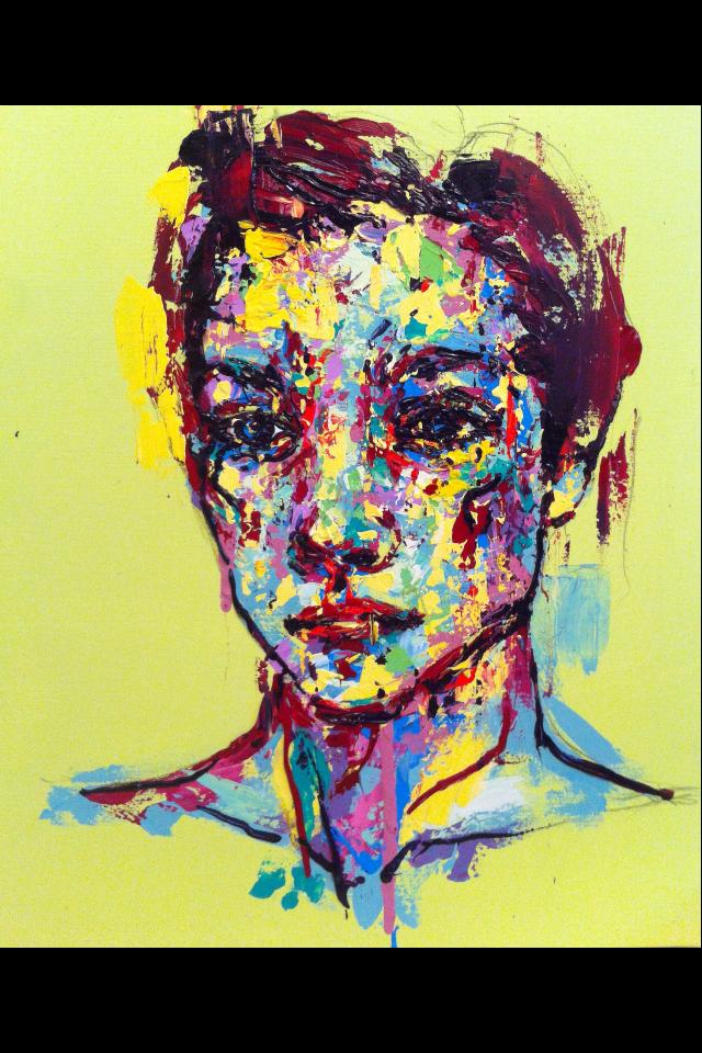 an ordinary person 10, acrylic on canvas, 53.0cm x 45.5, 2013