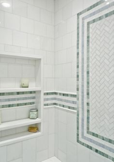 Master Bathroom With Ming Green Tile Tile Ming Green
