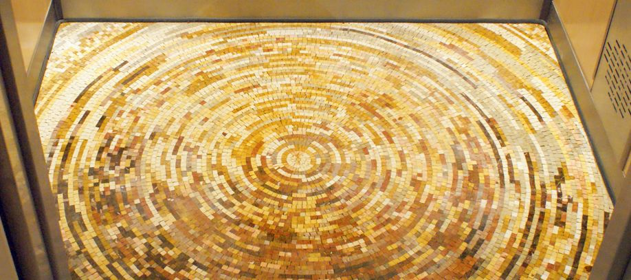 Elevator Floor Mosaic | Mosaics and tile art | Pinterest | Mosaics ...