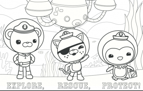 Disney Jr Octonauts Coloring Pages | colouring pages | Pinterest