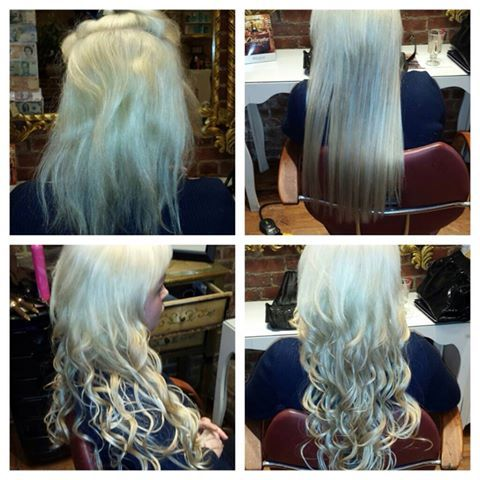 MicroRing Hair Extensions 150 Pcs 22 Inches In Length Human By Anthony Akson Only At Delacqua Salon Spa 2027 Street Brooklyn NY 11214