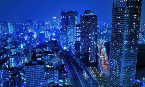 Tokyo City At Night Japan Hd Wallpaper 1080p 1920x1080 Cityscape Wallpaper Skyscraper City Wallpaper
