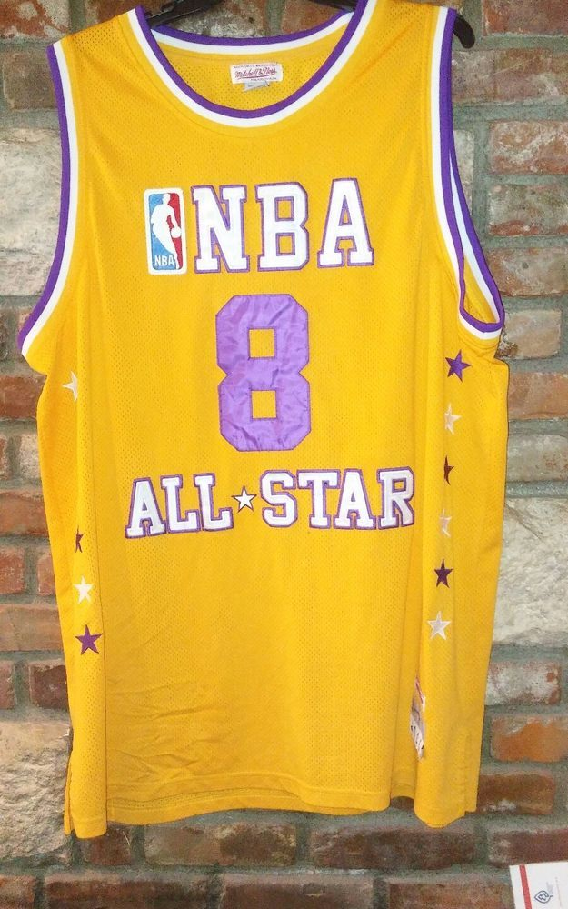 b5fa788af618 Kobe Bryant NBA ALL STARS LA Lakers Home Mitchell and Ness 2000 Jersey sz  60