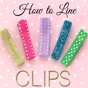 How to Line an Alligator Clip - DIY Hair Clips | TREASURIE