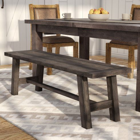 Laurel Foundry Modern Farmhouse Colborne Wood Bench Reviews Wayfair Supply Dining Room Bench Wooden Kitchen Furniture Solid Wood Dining Set