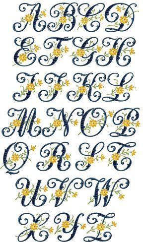 Floral Cutwork Alphabet Dremel Pinterest Machine Embroidery