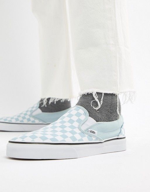 Classic Checkerboard Slip-On In Blue VA38F7QCK - Blue Vans rz4YdtN