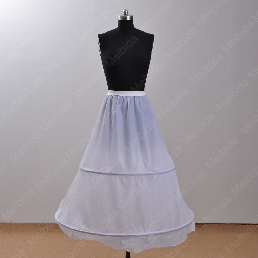 Petticoat for wedding dress  Find More Petticoats Information about  Hoop White Free Waist