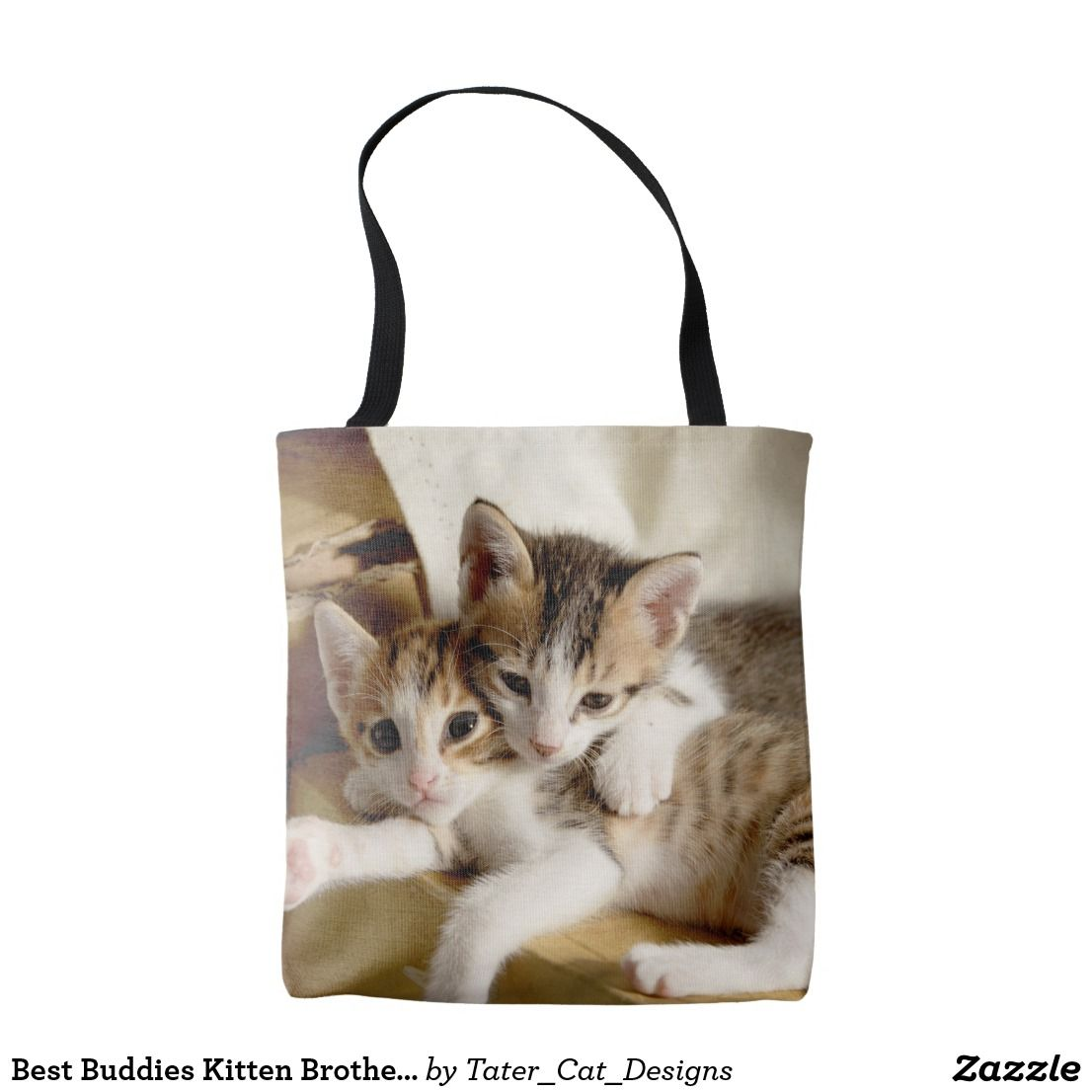 Best Buddies Kitten Brothers Fabric Cats Tote Bag Tote Bag Cat Tote
