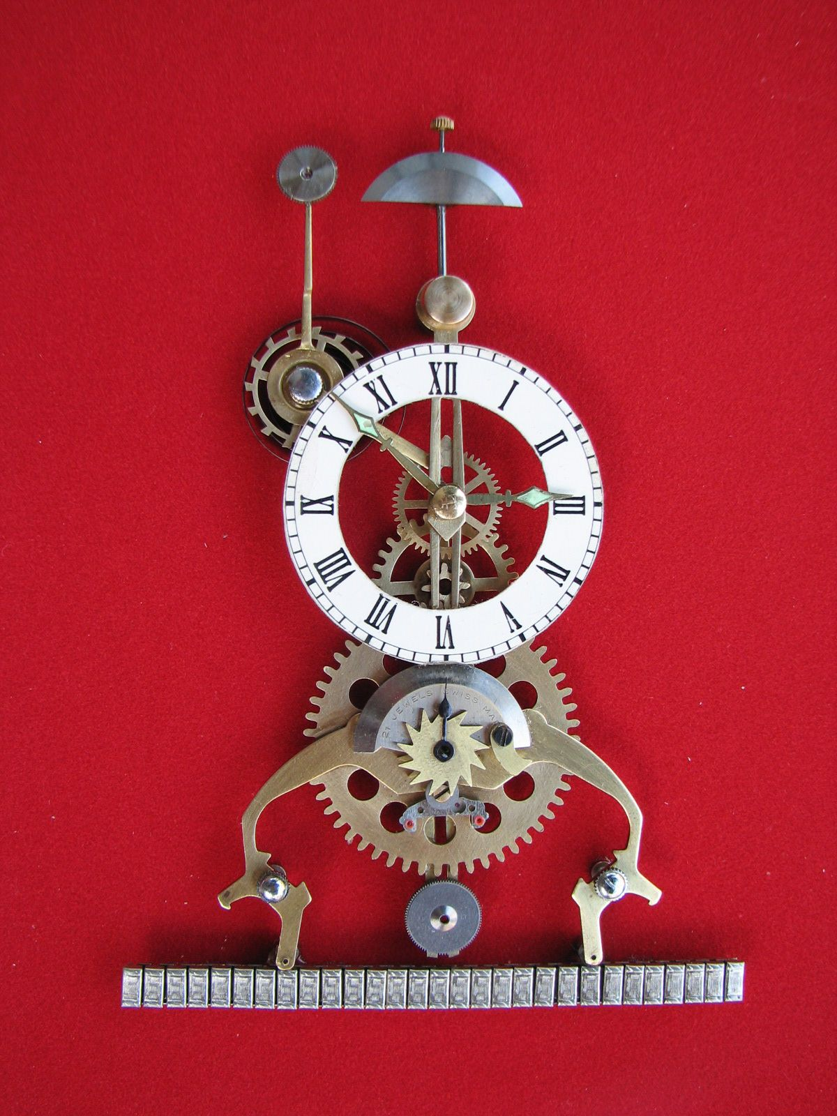 Great wheel Skeleton Clock 1830 Skeleton clock, Clock