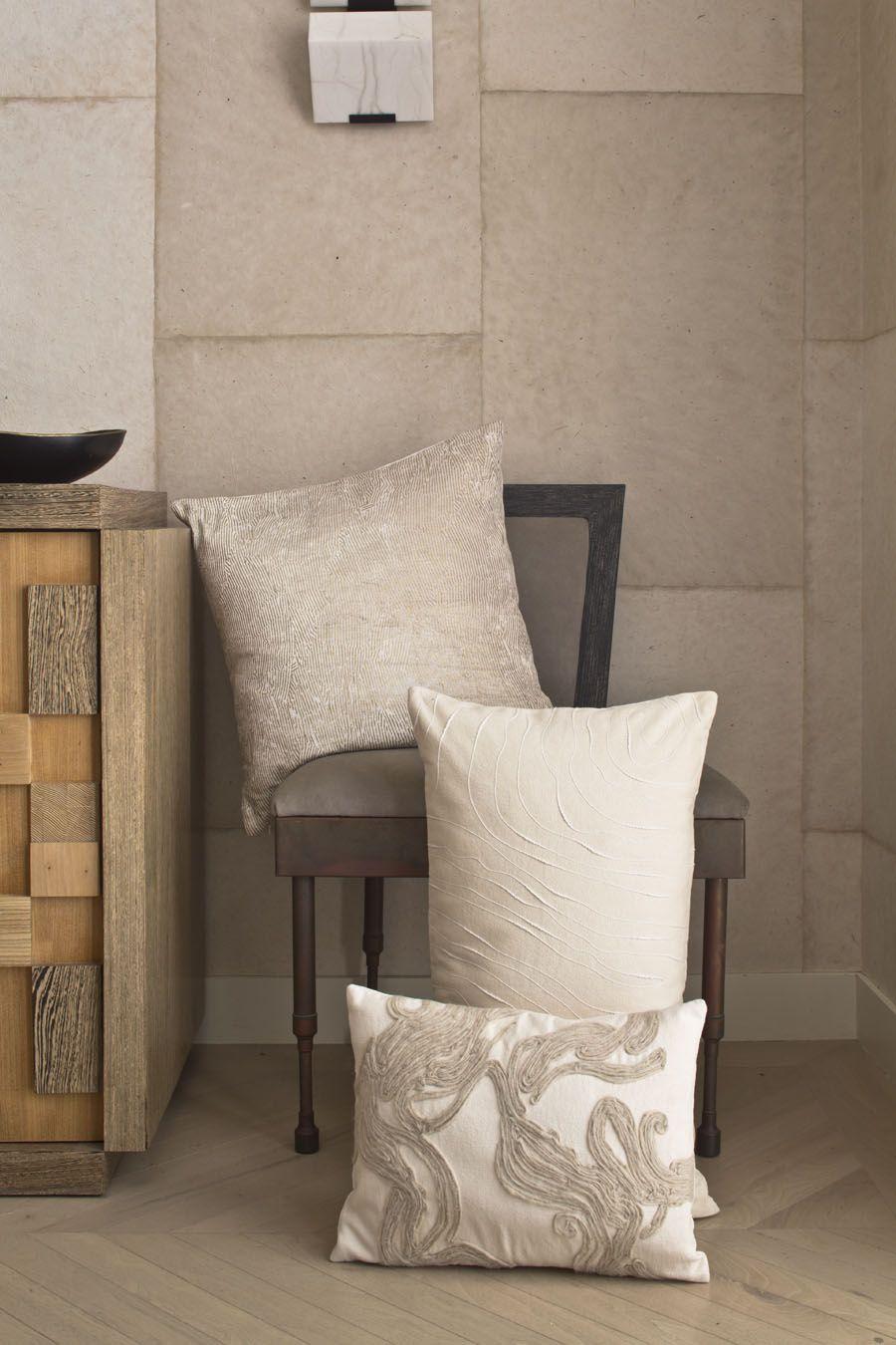 kelly wearstler | dune bedding. decorative pillows. | calmly