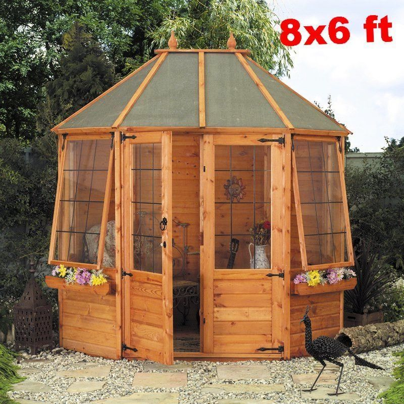 Large Summerhouse Octagon Garden Screen House Log Cabin Patio Shed Gazebo Floor Summer House Garden Summer House Octagonal Summer House